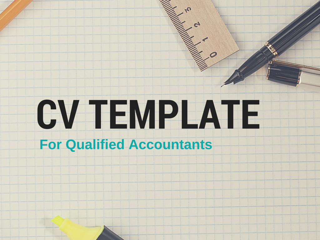 Sample Cv Template For Qualified Accountants Bdo Recruitment