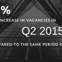 23% increase in the number of vacancies in Quarter 2 in 2015 compared to the same period in 2014
